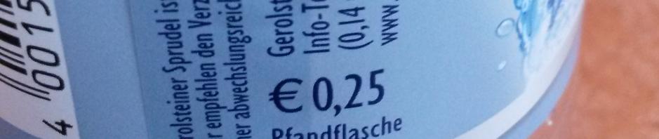 Uma garrafa de água na Alemanha vale 0,25€