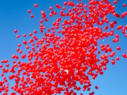 Que lindos eram os balões a voar