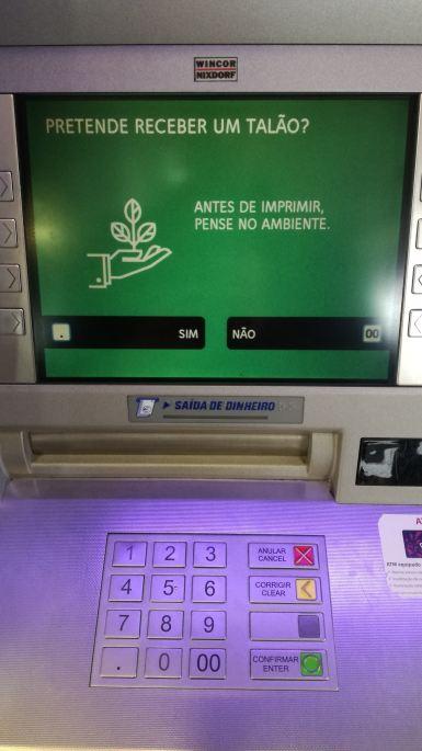Se o Multibanco mostrasse o Saldo no ecran, não se imprimiam tantos talões.